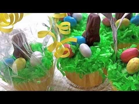 "Easter Basket ""Springtime"" Cupcakes (Almond Vanilla Cupcake Recipe)"