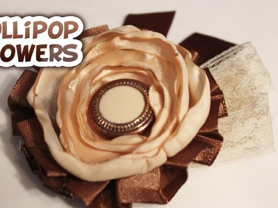 Easy Lollipop Flowers {For Headbands and Hairclips} - Whitney Sews