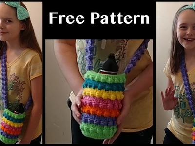 Free Crochet Purse Pattern (For water bottle or whatever) (Part 2)