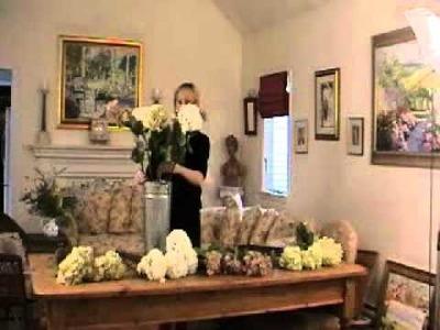 How to make a hydrangea flower arrangement