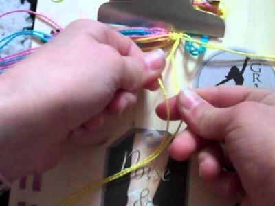 How to make friendship bracelets: Big Plaid