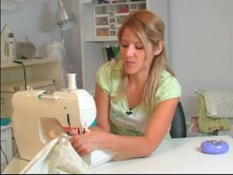 How to Sew a Baby Blanket : How to Finish Baby Blanket Corners