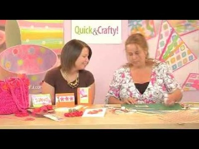 How to use fabric flowers and ribbon in cardmaking: Quick & Crafty! July 2007 Issue 35