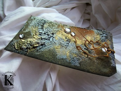 """Mixed Media """"Earth"""" Tag w. Texture Paste"""