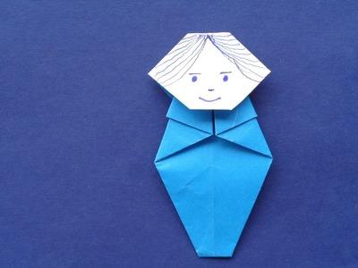 Paper art craft - charming doll