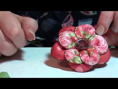 Paper flower and bow Melanie Heaton