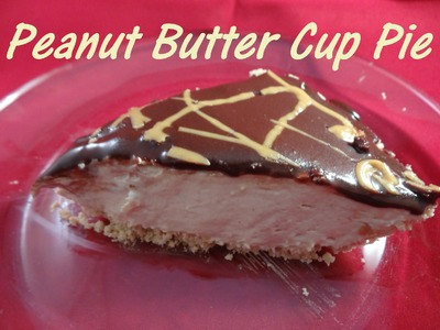 Peanut Butter Cup Pie (easy no-bake recipe) - with yoyomax12