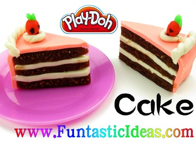Play Doh Cake.Slice of cake.Birthday Cake.Strawberry Chocolate - How to