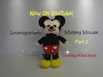 Rainbow Loom Mickey Mouse - Loomigurumi 2 of 2 - Looming WithCheryl