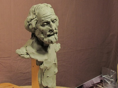 Sculpting With Lemon - Sculpture Depot and Chavant Clay - A Face Appears in Thin Air. kinda