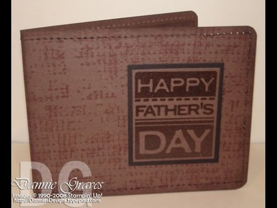 Stampin' Up! Father's Day Wallet Tutorial