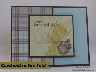Stampin' Up! Fun Fold Card using the Truly Grateful stamp set