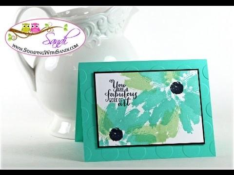 Stampin Up Work of Art Daisy Card