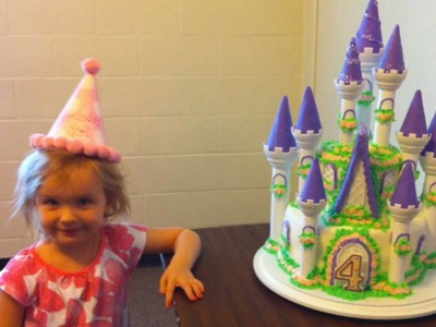 Victoria's incredible princess castle birthday cake
