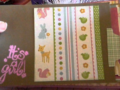 Baby girl Mini album (paperbag album)