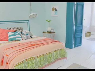 Bedroom ideas: A coral and teal colour scheme with Dulux