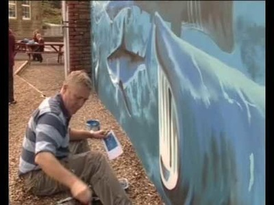 Bright Ideas: Marine Mural Artwork Time Lapse; by John Hensley Davies