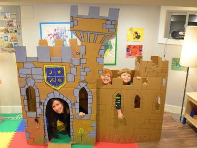 Build a Cardboard Castle Fort