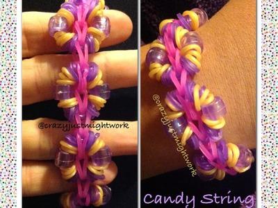 Candy String bracelet on Rainbow Loom