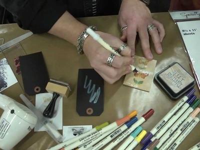 CHA 2012 - Tim Holtz Demos His New Distress Markers!