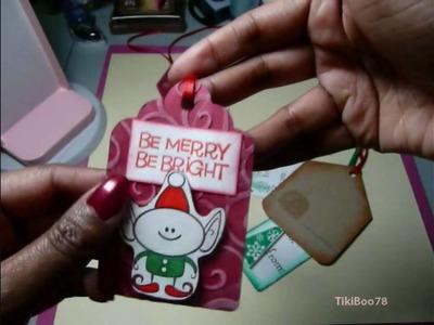 Christmas Gift Tags & Reindeer Bag Topper