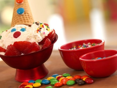 Clown Face Ice Cream Sundae Recipe || KIN PARENTS