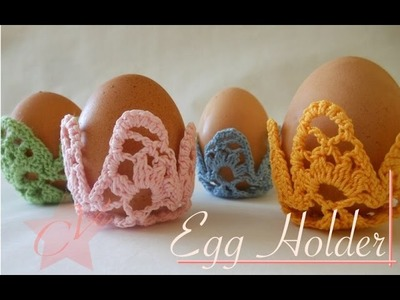 Crochet Easter Egg Holder - Part 1 - Video Tutorial (left-handed)