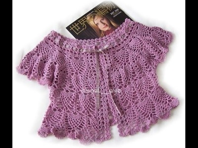 Crochet shrug| how to crochet vest shrug free pattern tutorial for beginners 13