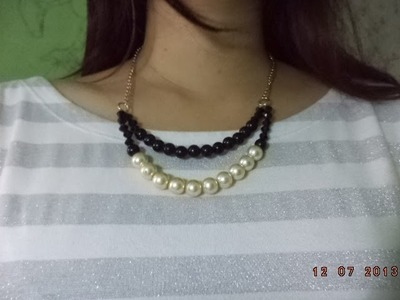 DIY: Beaded Collar Necklace | berrypink23