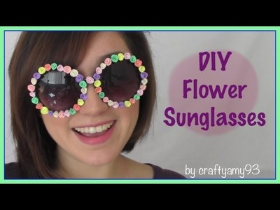 DIY Ciate Flower Sunglasses (using sculpey clay)