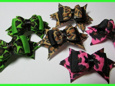 DIY - Dog Hair Bows No.8 - How to make spiked hair bows