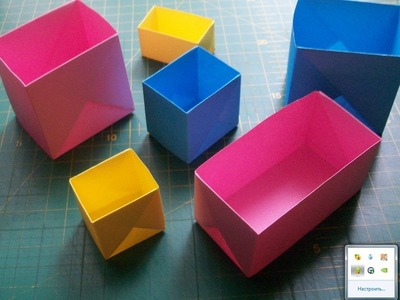 DIY Easy Paper Crafts: How to Make Origami Rectangular and Square Box by One Diagram Tutorial