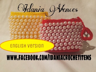 "DIY:  ""English Version"" beaded crochet coin purse"