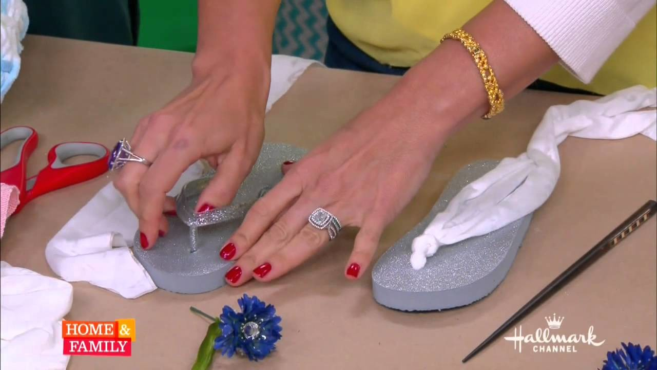 DIY Flip flops for Mom and daughter - By Tanya Memme As seen on Home and Family