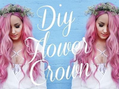 DIY Flower Crown - Baby's Breath! | by tashaleelyn