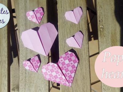 Do a paper heart in a minute | Corazón de papel en un minuto | Tutorial DIY