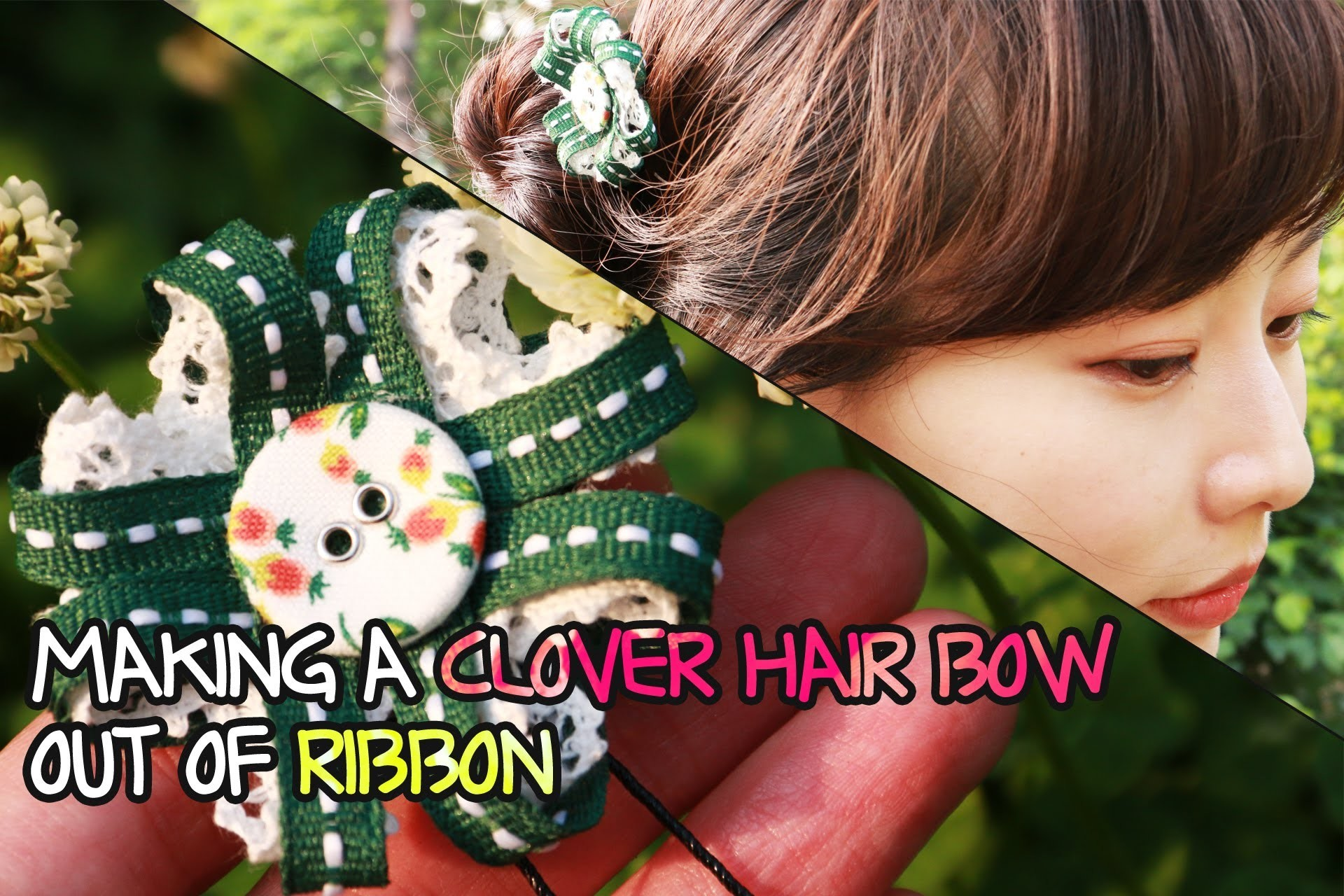 [English Subs]MAKING A CLOVER HAIR ACCESSORY OUT OF RIBBON -EOMS' OT in Mental Health