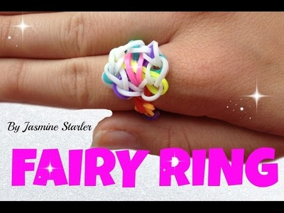 FAIRY RING (Original design) Rainbow loom tutorial