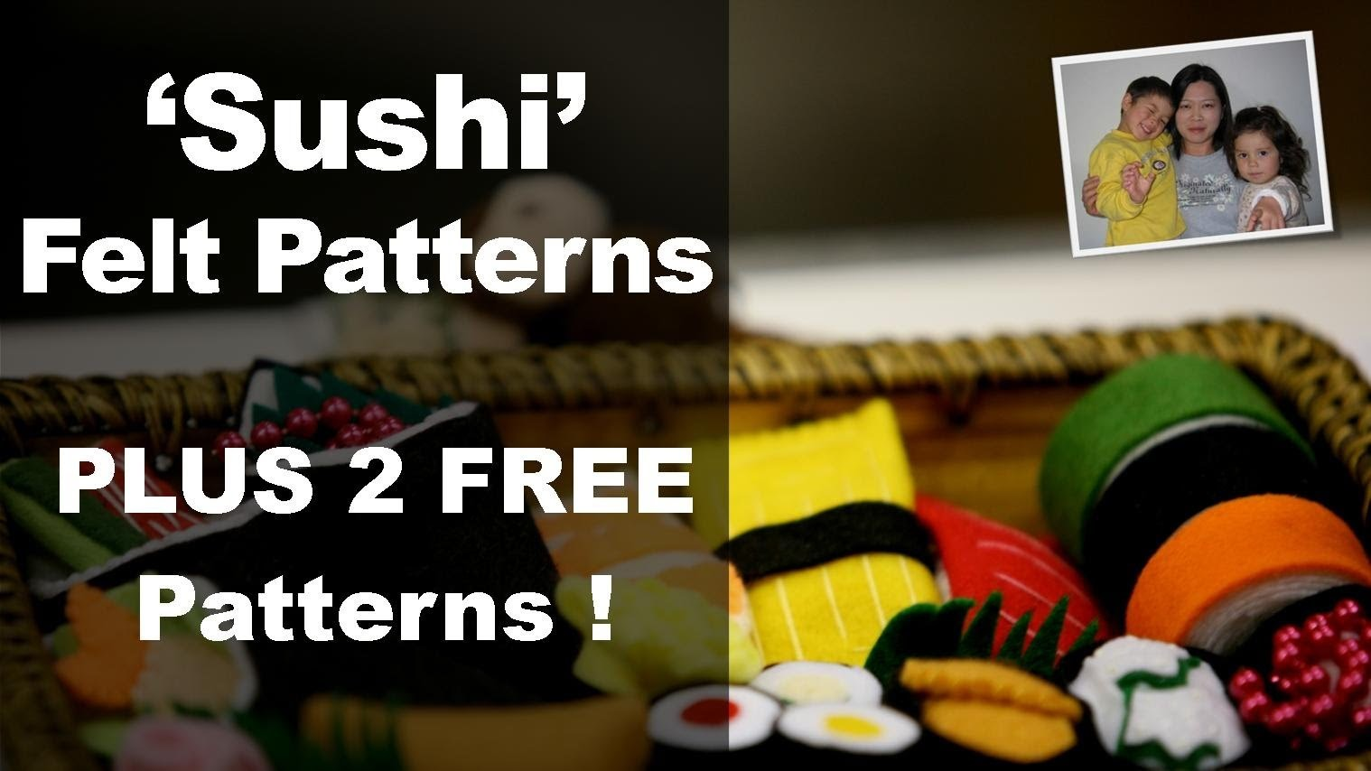 "Felt Patterns - Felt Patterns for Sushi from the ""Felt Cuisine"" series by Hiromi Hughes"