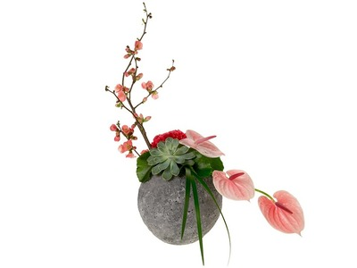 Formal Linear Floral Design Style