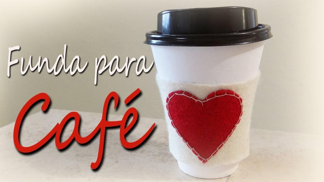 Funda para vaso de café ♥san valentin