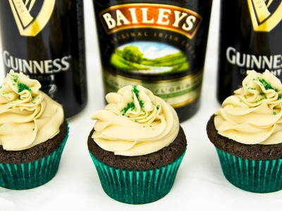 Guinness Chocolate Cupcakes w. Bailey's Buttercream by Cookies Cupcakes and Cardio
