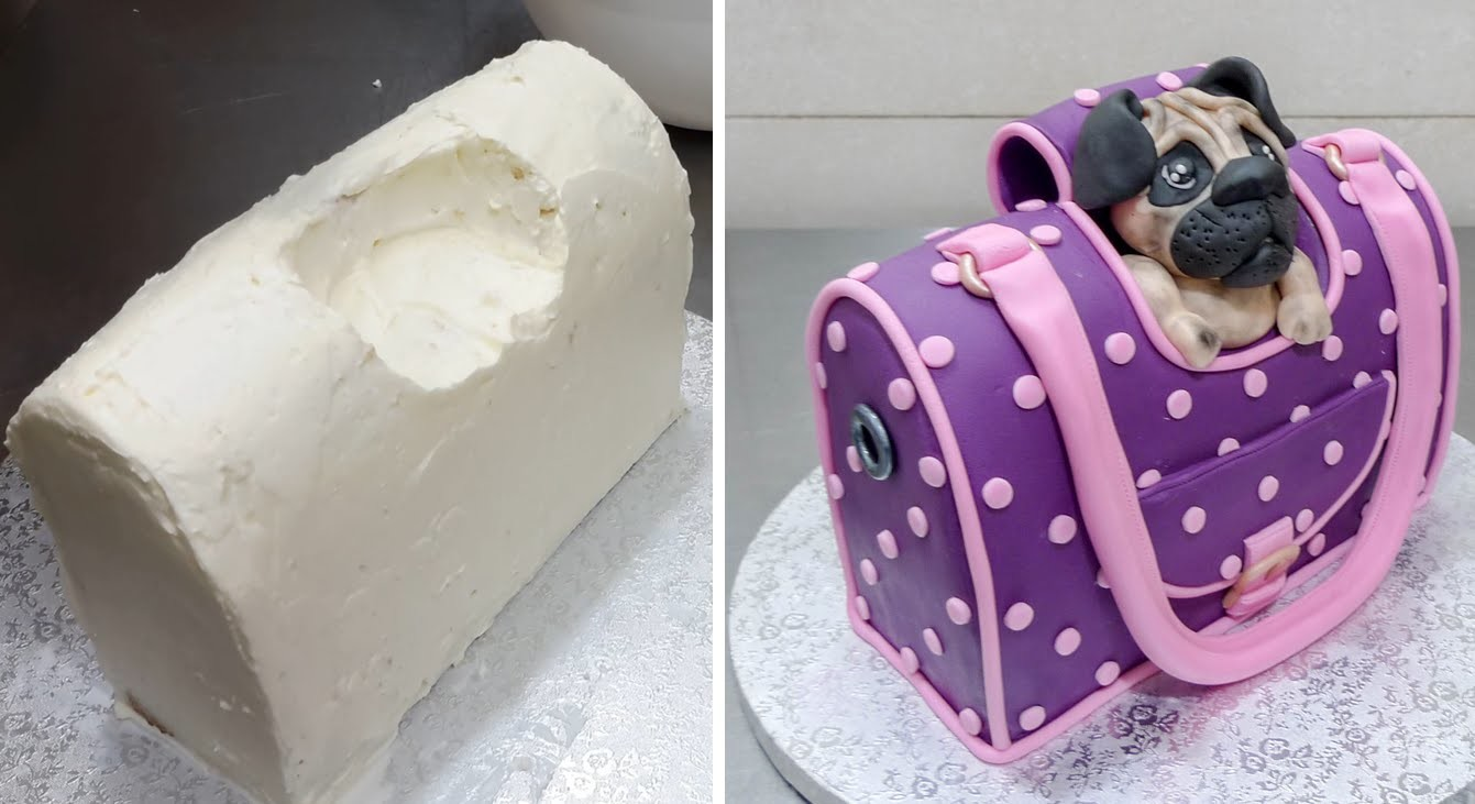 Handbag Style Pet Carrier Cake - How To by CakesStepbyStep