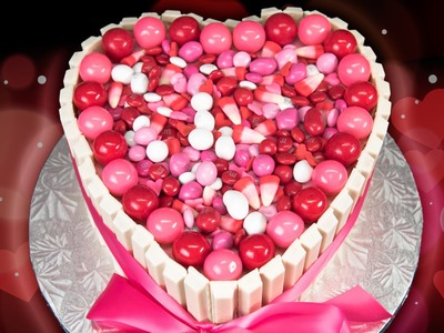Heart Shaped Kit Kat Cake for Valentine's Day from Cookies Cupcakes and Cardio