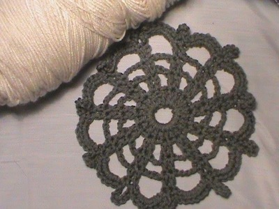 """How to Crochet the """"Lacy Wheel"""""""
