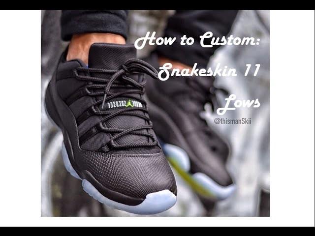 How To Customize Jordan Snakeskin 11 Low: Nightshade to Blackout