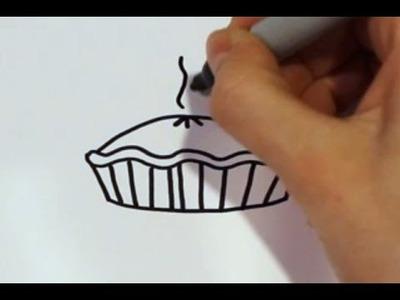 How to Draw a Cartoon Pumpkin Pie