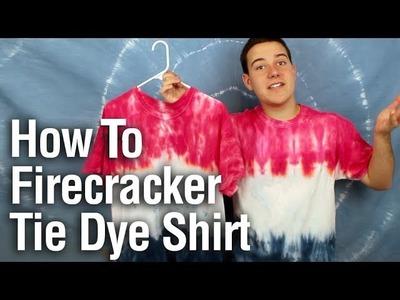 How To Firecracker Tie Dye T-Shirt