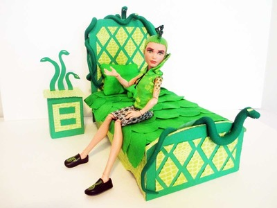 How to make a Deuce Gorgon Doll Bed Tutorial. Monster High