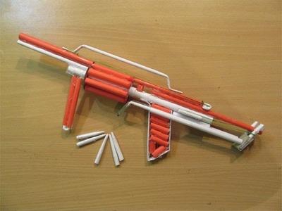 How to Make a Paper Powefull M32 Gun that shoots 8 bullets - Easy Tutorials